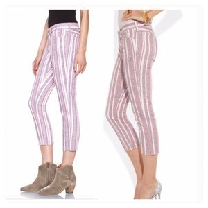 Isabel Marant Etoile Cooper Striped Cropped Jeans